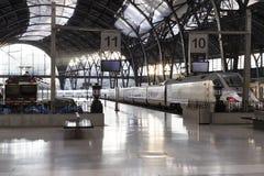 Barcelona för morgonfranskastation arkitektur i art déco Arkivbild