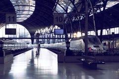 Barcelona för morgonfranskastation arkitektur i art déco Arkivfoto