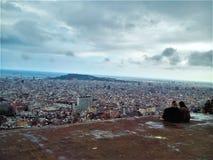 Barcelona för två arkivfoton