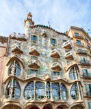 BARCELONA - FABRUARY 9: The facade of the house Casa Battlo (als Royalty Free Stock Photo