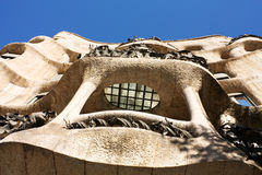 Barcelona. Facade of Cada Mila Royalty Free Stock Images