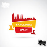 Barcelona-Fahne stock abbildung