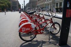 Barcelona fahrräder Stockfotografie