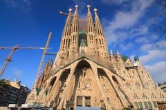 barcelona familia los angeles Sagrada Spain Obrazy Royalty Free