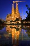 barcelona familia los angeles Sagrada Spain Zdjęcie Royalty Free