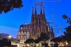 barcelona familia los angeles Sagrada Spain Obrazy Stock