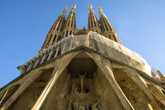 barcelona familia los angeles Sagrada Spain Zdjęcia Stock