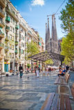 barcelona familia sagrada Arkivfoto