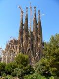 barcelona familia sagrada royaltyfri bild
