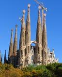 barcelona familia sagrada Arkivfoton