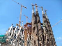 barcelona familia sagrada Arkivbilder