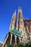 barcelona familia Sagrada fotografia stock