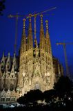barcelona familia Sagrada Obraz Royalty Free