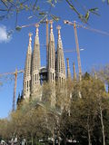 barcelona familia sagrada spain Royaltyfria Foton