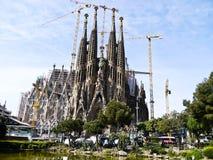 barcelona familia Sagrada Spain Fotografia Royalty Free