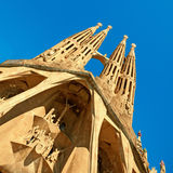 barcelona familia Sagrada Spain Obrazy Royalty Free