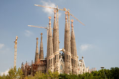 barcelona familia sagrada spain Royaltyfria Bilder