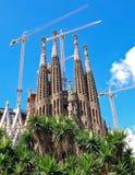 barcelona familiala sagrada Royaltyfri Bild