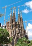 barcelona familiala sagrada Arkivfoto