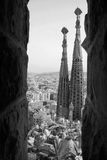 barcelona familiala sagrada Arkivbilder