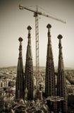 barcelona familiala sagrada Royaltyfri Foto