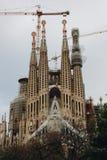 barcelona familiala sagrada Arkivbild