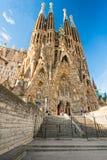 barcelona familiala sagrada spain Royaltyfri Foto