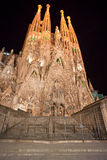 barcelona familiala sagrada spain Arkivbild