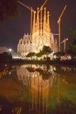 barcelona familiala sagrada spain Royaltyfri Fotografi