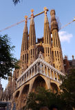 barcelona familiala sagrada spain Arkivfoto