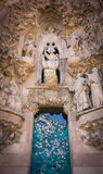 barcelona familiala sagrada spain Royaltyfria Bilder