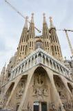 barcelona familiala sagrada spain Royaltyfri Bild