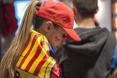Barcelona Fan Royalty Free Stock Photo