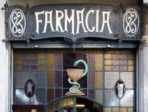 barcelona farmacia Arkivbild