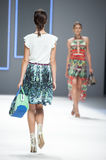 080 BARCELONA FASHION - CUSTO BARCELONA CATWALK Royalty Free Stock Photos