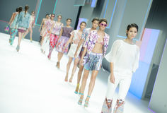 080 BARCELONA FASHION - CUSTO BARCELONA CATWALK Stock Photo