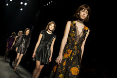 080 BARCELONA FASHION - JUSTICIA RUANO CATWALK Royalty Free Stock Images
