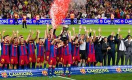 barcelona fc liga wygrany Zdjęcia Stock