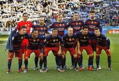 barcelona fclineup royaltyfria bilder