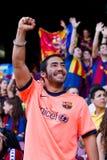 barcelona fcsupporter Fotografering för Bildbyråer