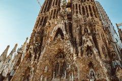 BARCELONA - AUGUST 9: The Nativity Facade of the Sagrada Familia, the most iconic landmark stock photos