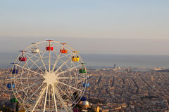 Barcelona ferris wheel at Tibidabo Stock Photo