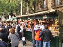 barcelona festivalllucia santa Arkivbild