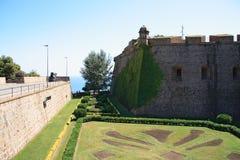 Barcelona-Festung Stockbilder