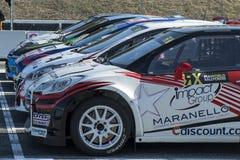 Barcelona FIA Rallycross Światowy mistrzostwo Zdjęcie Royalty Free