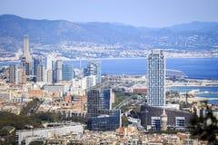 Barcelona financial and university center, Spain Stock Photos