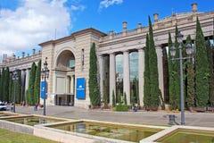 Barcelona Fira Montjuic Hall av konferenser, Barcelona, Spanien arkivfoton
