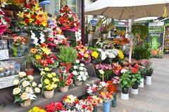 Barcelona Flower Stall Stock Images