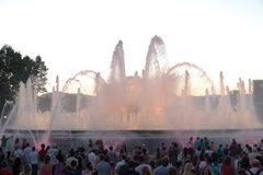 Barcelona Font Magica or Magic Fountain Stock Image