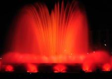 barcelona fontann krajobrazowy śpiew Zdjęcia Royalty Free